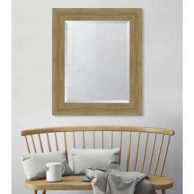 31 in. x 37 in. Framed 4 1/4 in. Natural English Pine Resin Frame Mirror