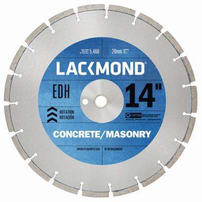 14 in. x 0.125 x 20 mm EDH Series Dry Cut Diamond Blade for Cured Concrete