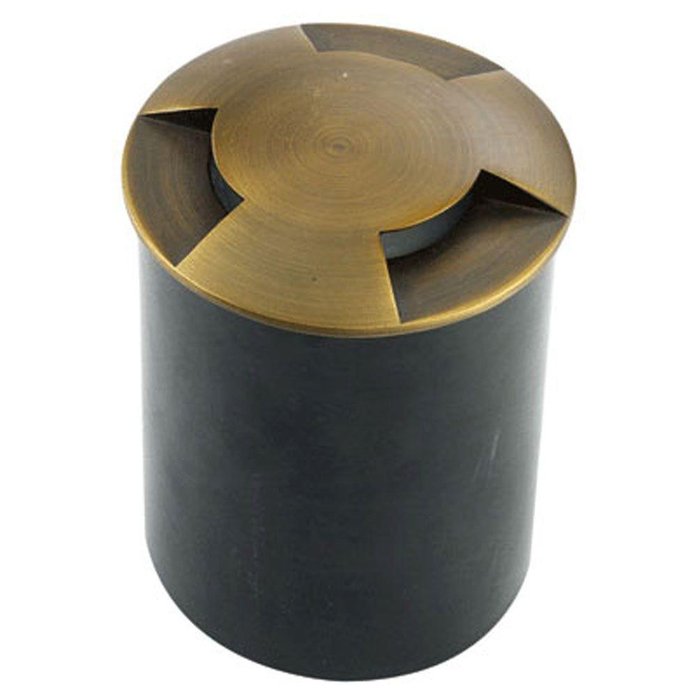 1-Light Antique Bronze Die Cast Brass Well Light