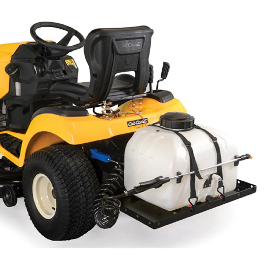 Cub Cadet FastAttach 9 Gallon Electric Sprayer with Spray Wand and Cargo  Carrier for Cub Cadet Lawn Mowers (2015 and After)