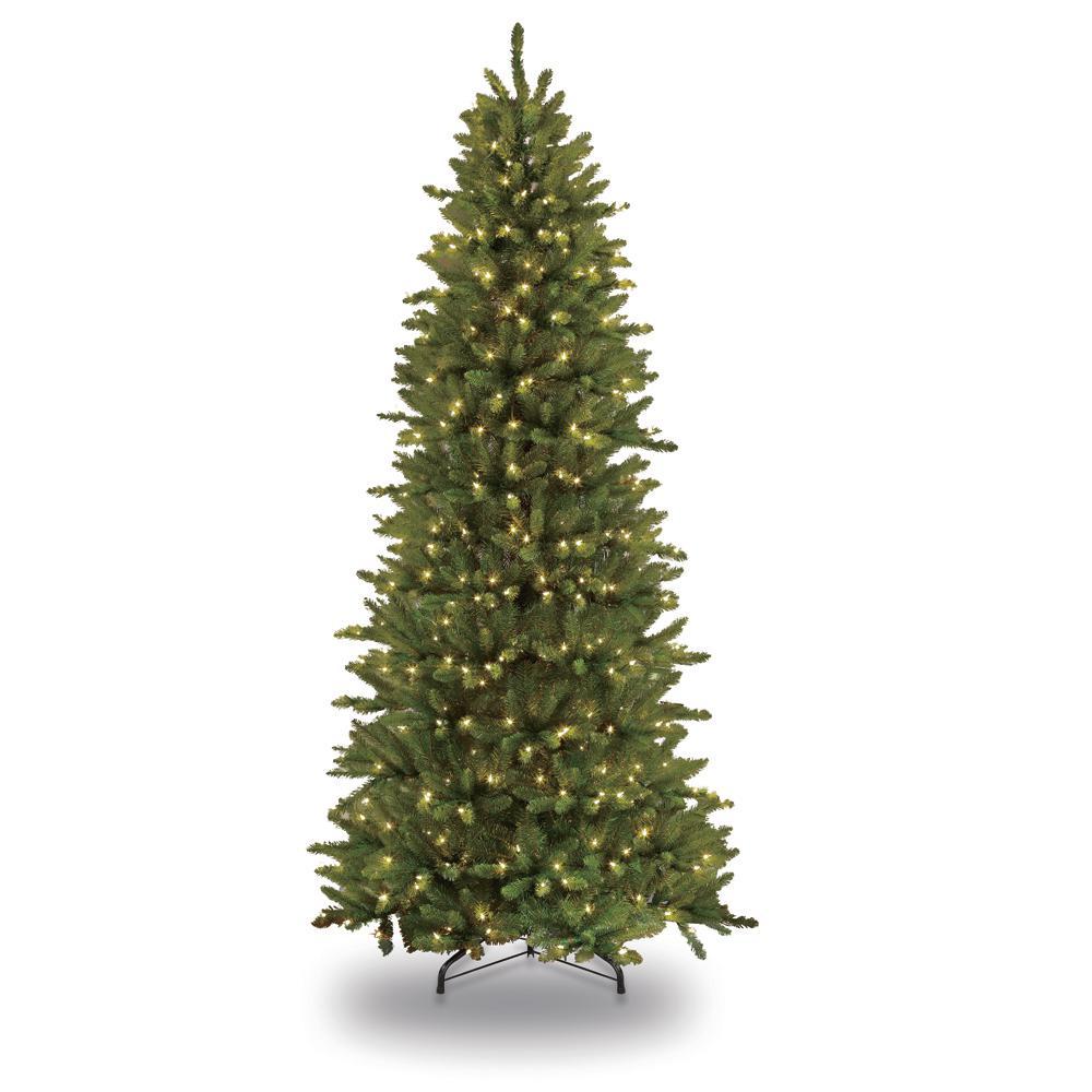 8 Ft Slim Christmas Tree Pre Lit