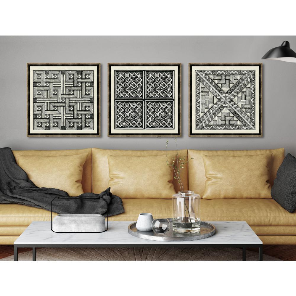 "22 in. x 22 in. ""Woodblocks II"" Framed Giclee Print Wall Art"