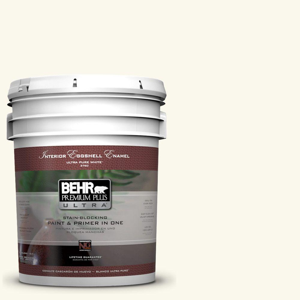 BEHR Premium Plus Ultra 5-gal. #BXC-29 Stately White Eggshell Enamel Interior Paint