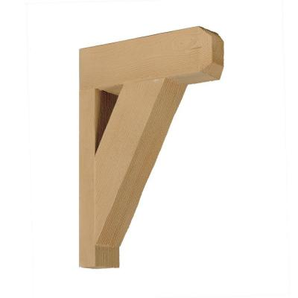 12 in. x 18 in. x 3-1/2 in. Polyurethane Wood Grain Texture Bracket