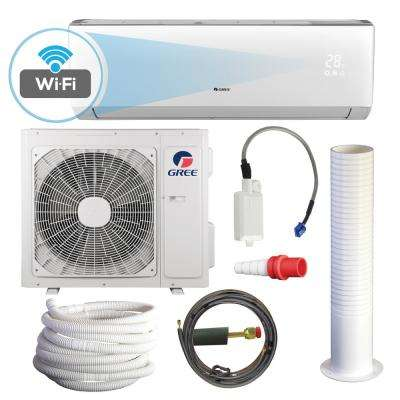 LIVO 22,000 BTU 2 Ton Wi-Fi Programmable Ductless Mini Split Air Conditioner with Heat Kit - 230-208V/60Hz