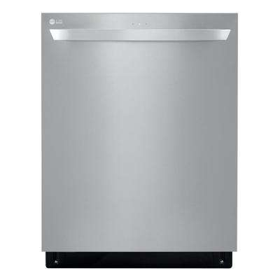 24 in. Top Control Built-In Tall Tub Smart Dishwasher in Stainless Steel with QuadWash, SmartThinQ 3rd Rack, 46 dBA