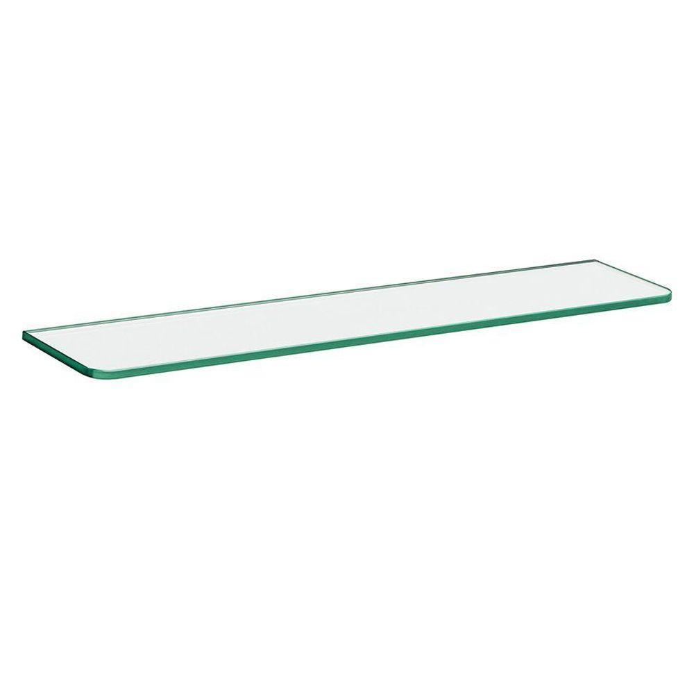 Dolle 23-5/8 in. x 6 in. x 5/16 in. Standard Glass Line Shelf in Clear