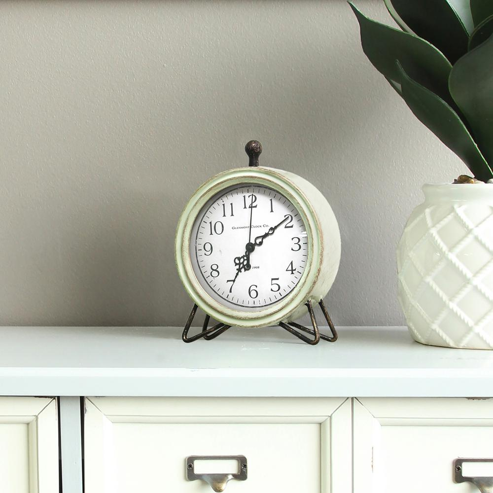 Internet #303849762. Stratton Home Decor Oliver Table Top Clock