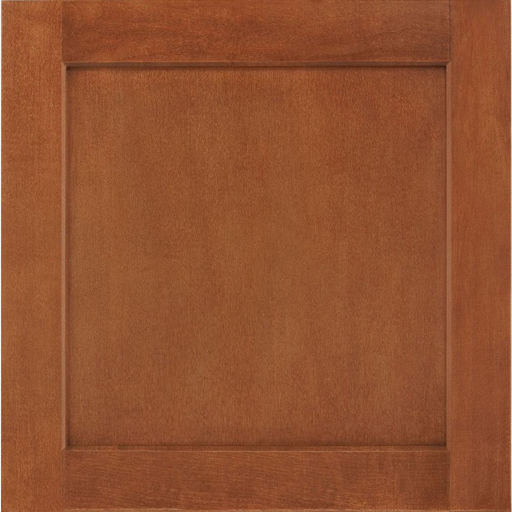 Enjoyable American Woodmark 14 1 2 In X 14 9 16 In Cabinet Door Sample In Leesburg Maple Cognac Beutiful Home Inspiration Cosmmahrainfo