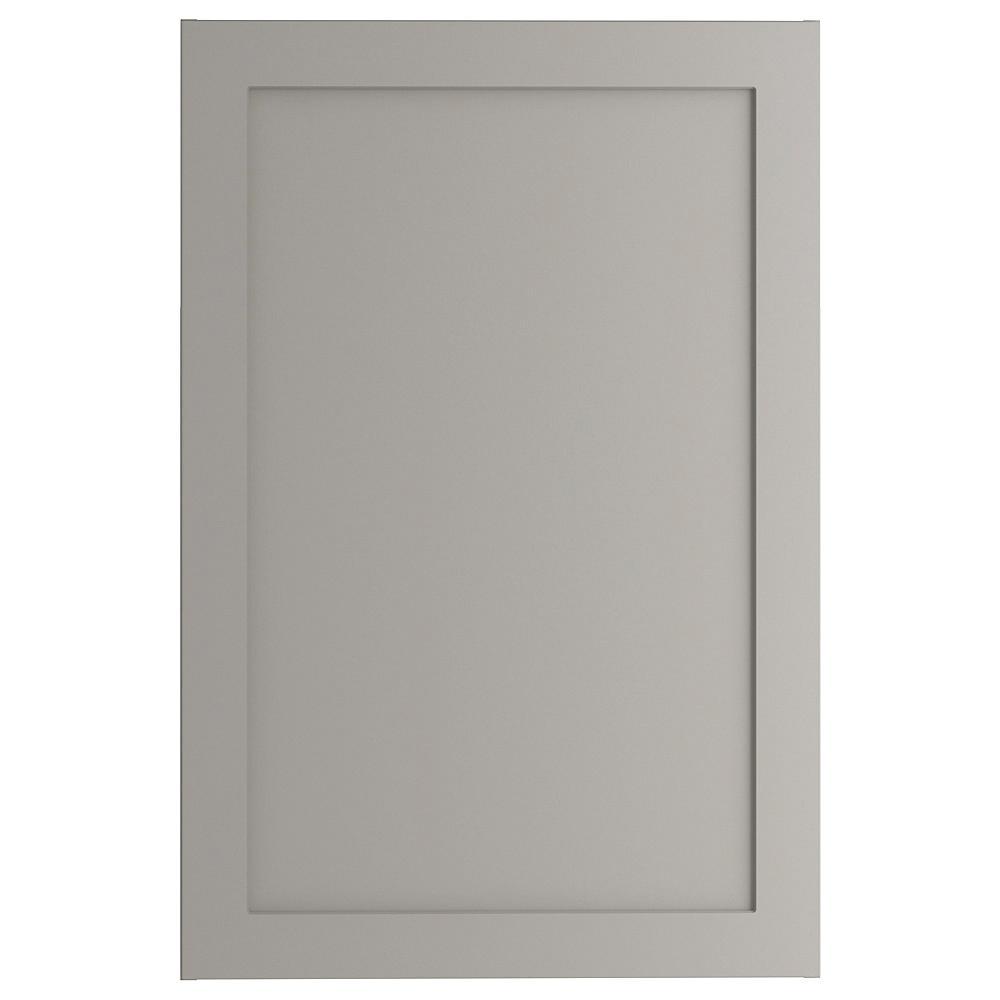 Hampton Bay Cambridge Shaker Assembled 24x36x12.5 in. Wall Cabinet in Gray