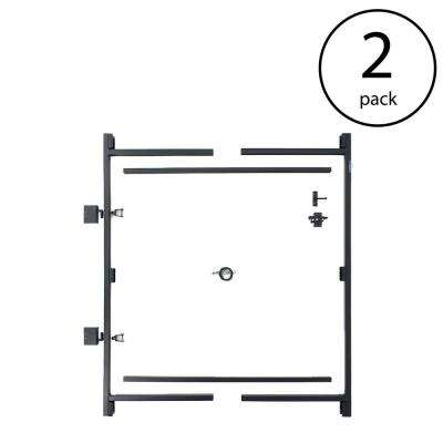 60 in. W to 96 in. W x 6 ft. H Steel Frame Gate Building Kit (2-Pack)