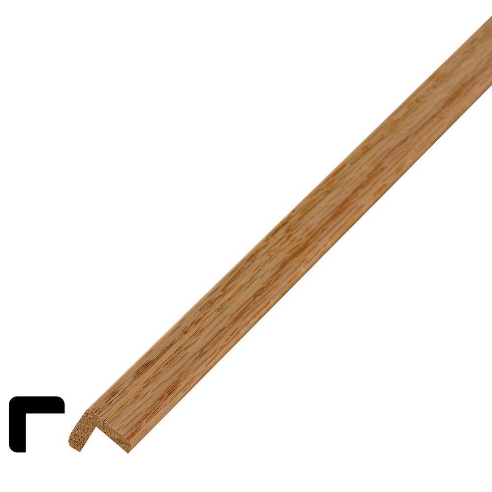 WM 206 3/4 in. x 3/4 in. x 96 in. Wood Red Oak Outside Corner Moulding
