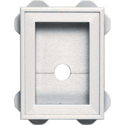 5.0625 in. x 6.75 in. #117 Bright White Wrap Around Universal Mounting Block