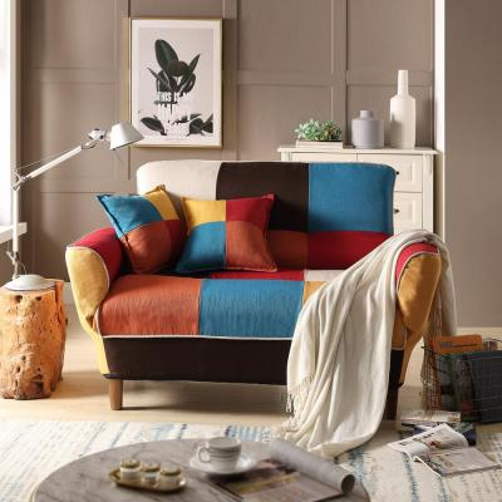 Modern Colorful Sleeper Sofa Loveseat