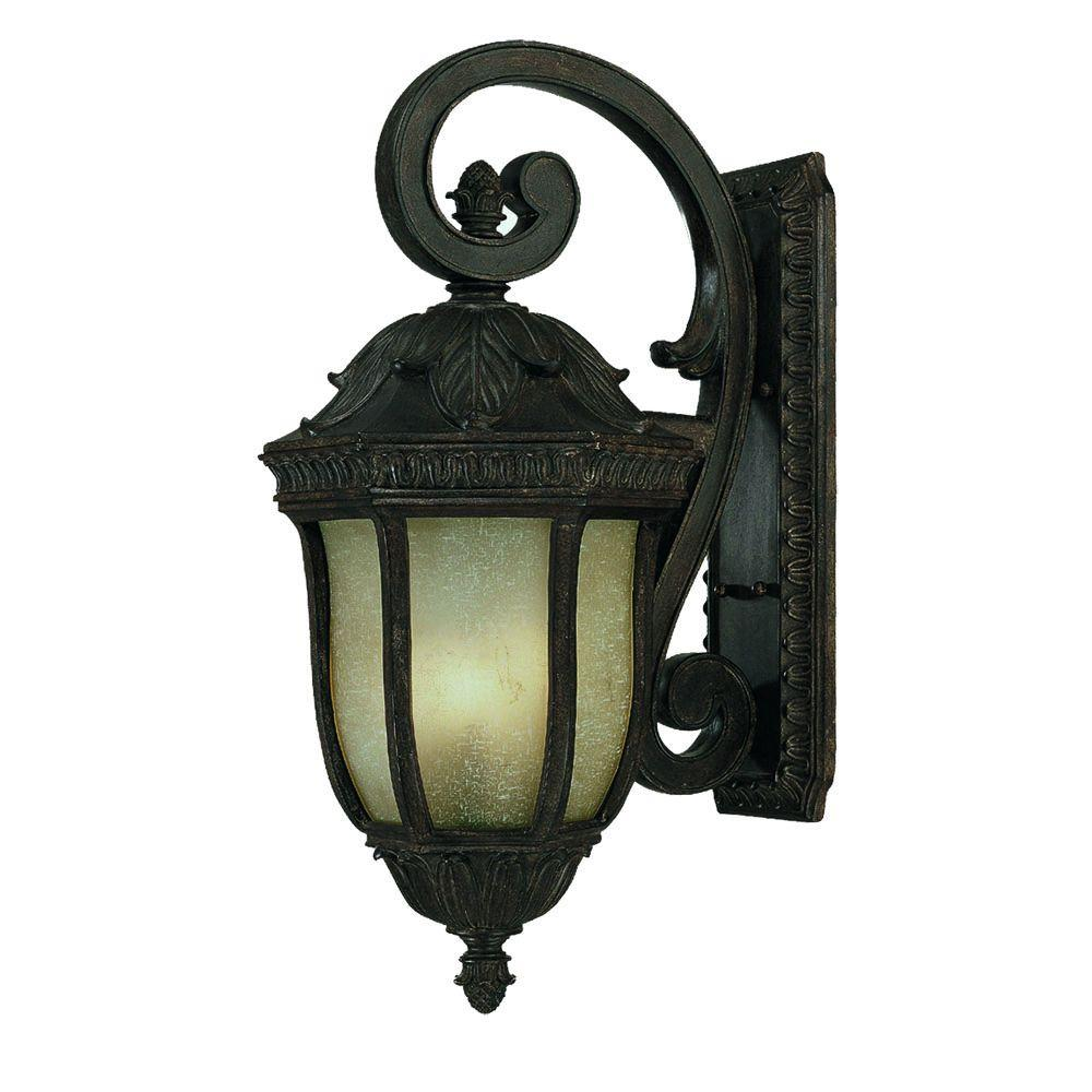Acclaim Lighting Renaissance Collection Wall-Mount 4-Light Outdoor Black Coral Light Fixture