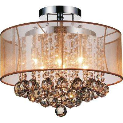 Radiant 6-Light Chrome Semi-Flush Mount
