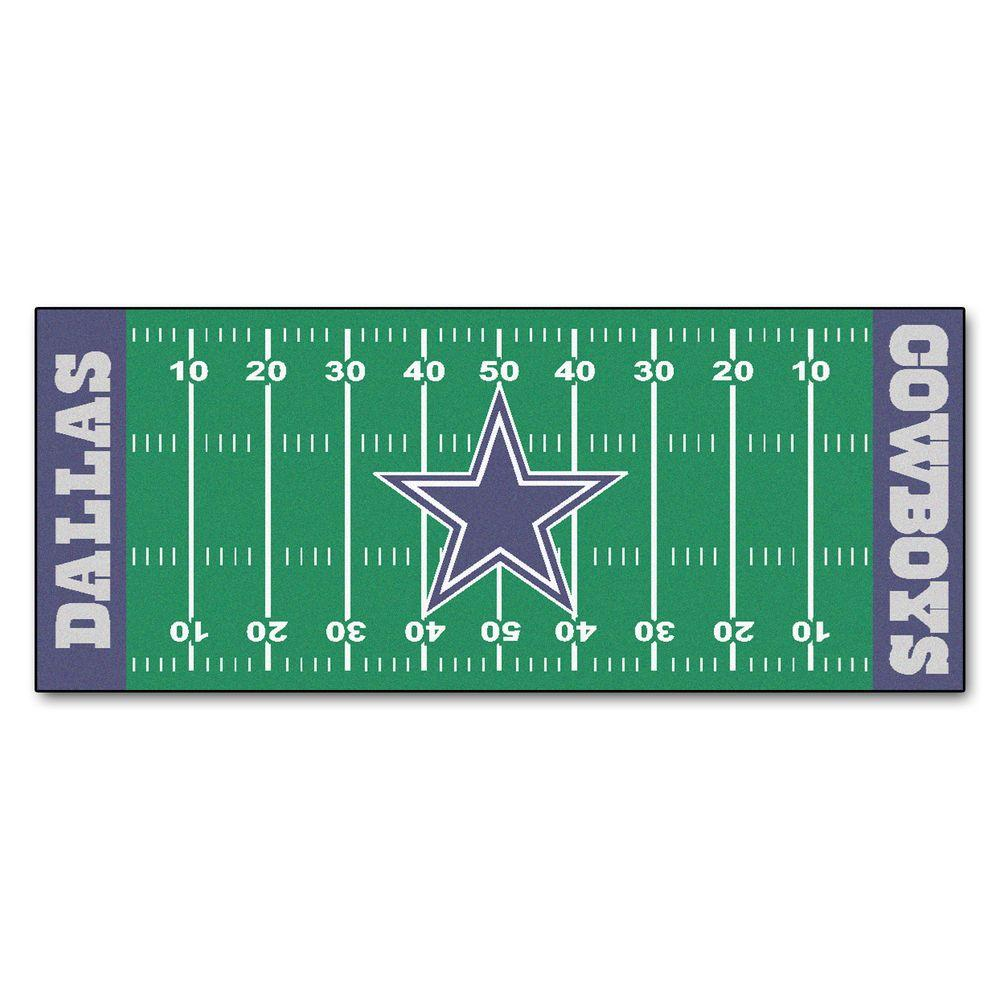 Fanmats Dallas Cowboys 3 Ft X 6 Ft Football Field Rug