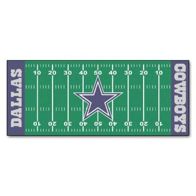 Dallas Cowboys 3 ft. x 6 ft. Football Field Rug Runner Rug