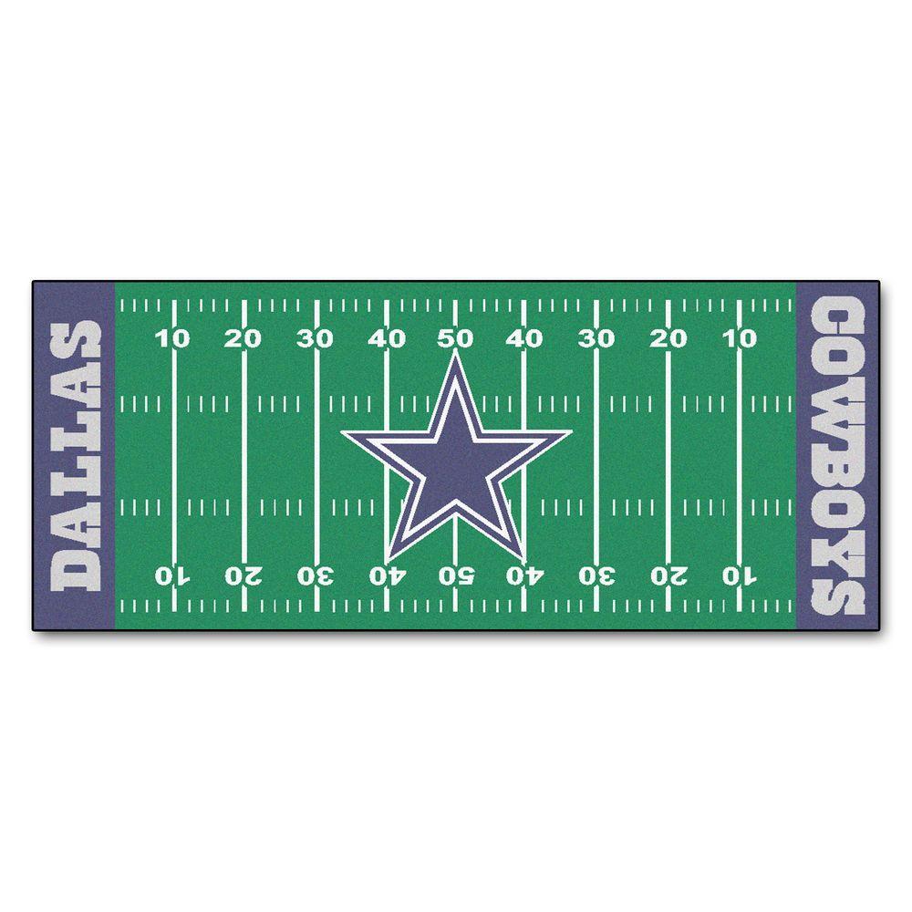 Dallas Cowboys 2 ft. 6 in. x 6 ft. Football Field Rug Runner Rug