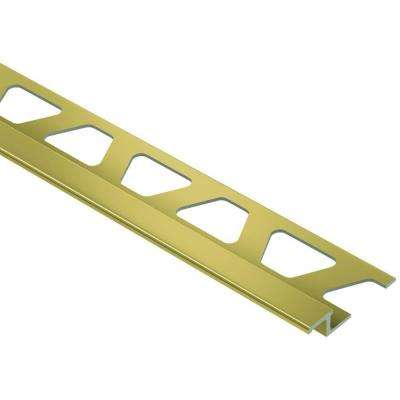 Reno-TK Bright Brass Anodized Aluminum 1/4 in. x 8 ft. 2-1/2 in. Metal Reducer Tile Edging Trim