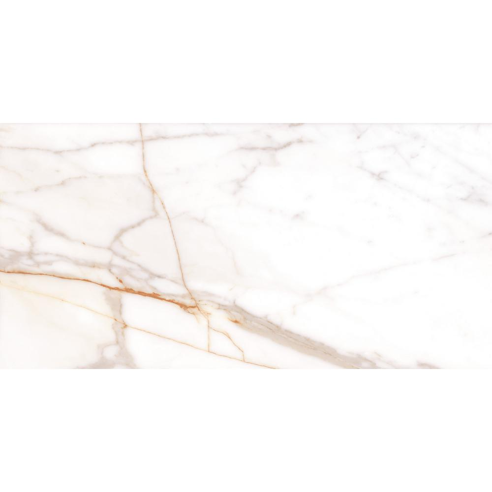 Rosa Bianca Calacatta Gold Technic Granite 5 in. x 5 in. Polished  Porcelain Floor and Wall Tile ( 5 sq. ft. )
