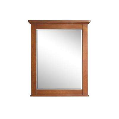 26 in. x 32 in. Single Framed Wall Mirror in Winter Cherry