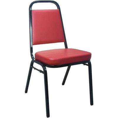 Burgundy Vinyl-padded Stackable Banquet Chair (Set of 50)