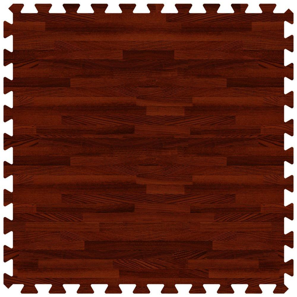 Cherry 24 in. x 24 in. Comfortable Wood Grain Mat (100