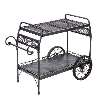Oversized Steel Patio Cart