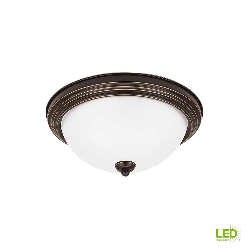 Ceiling flush mount collection 14 watt heirloom bronze integrated led flush mount