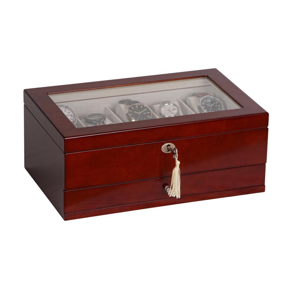 Christo Walnut Finish Wooden Watch Box