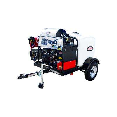 4000 PSI at 4.0 GPM V-Twin Hot Water Mobile Washing System Powered by VANGUARD Gas Washing Trailer
