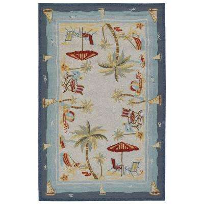 Outdoor Escape Pacific Heights Ocean 2 ft. x 4 ft. Area Rug