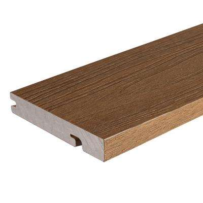 UltraShield Naturale Columbus Series 1 in. x 6 in. x 16 ft. Peruvian Teak Solid Composite Decking Board