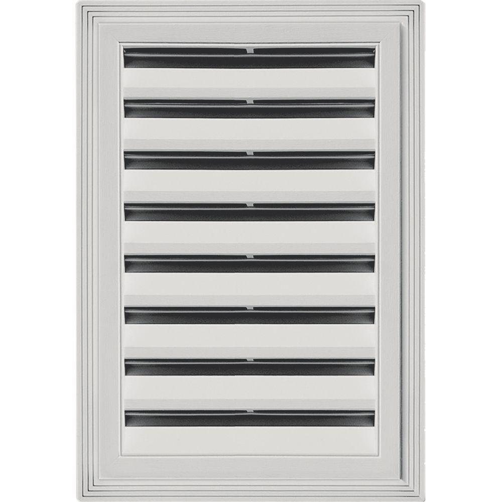 Builders Edge 12 in. x 18 in. Rectangle Gable Vent #030 Paintable