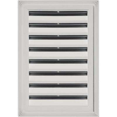 12 in. x 18 in. Rectangle Gable Vent #030 Paintable