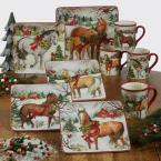 Certified International Christmas on the Farm by Susan Winget 10.5 in. Dinner Plate (Set of 4)