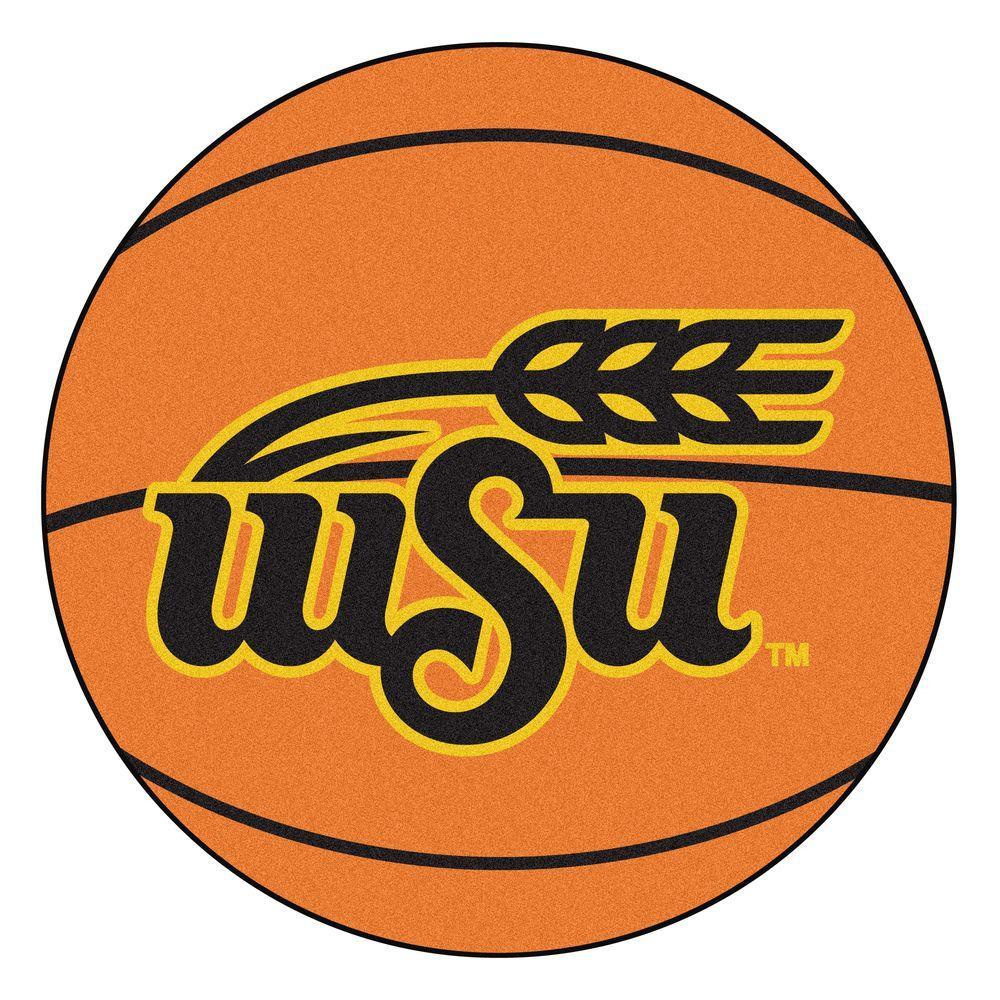 Ncaa Wichita State University Orange 2 ft. 3 in. x 2 ft. 3 in. Round Accent Rug