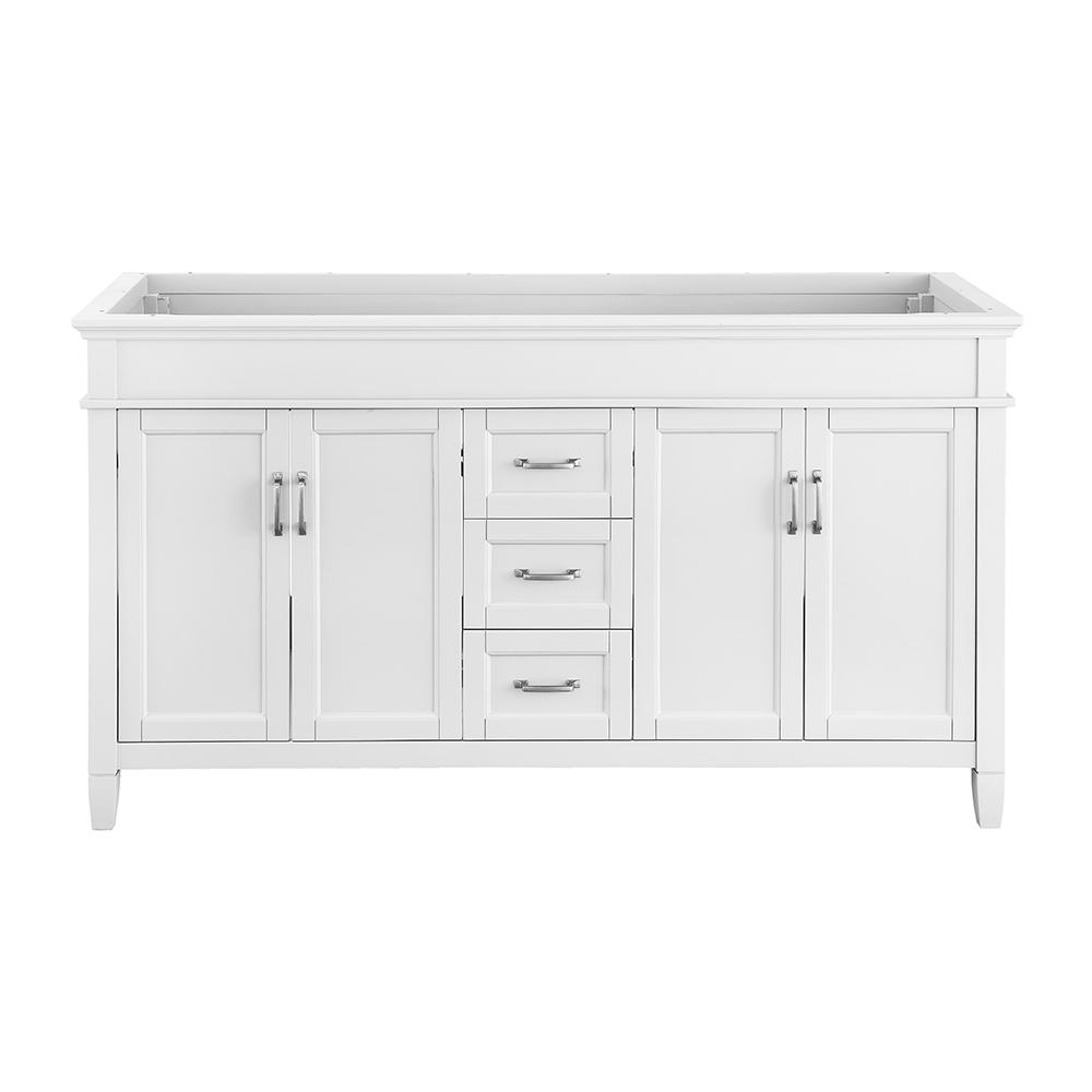 Home Decorators Collection Ashburn 60 in. W x 21.75 in. D Vanity Cabinet in White