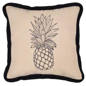 CushionGuard Pineapple Square Outdoor Throw Pillow