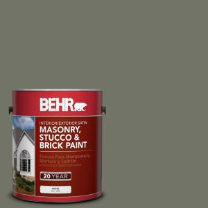 BEHR 1 gal. #BXC-44 Pepper Mill Satin Interior/Exterior Masonry, Stucco and Brick Paint by BEHR