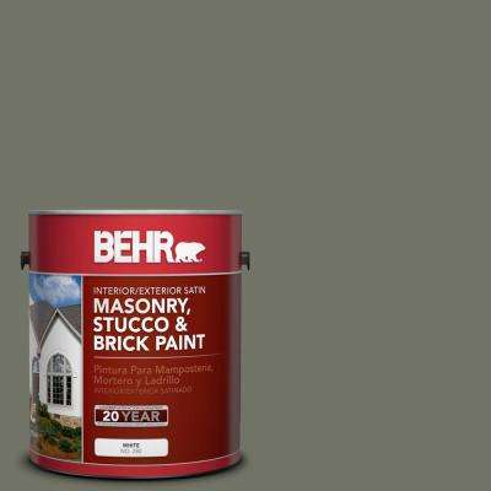 1 gal. #BXC-44 Pepper Mill Satin Interior/Exterior Masonry, Stucco and Brick Paint