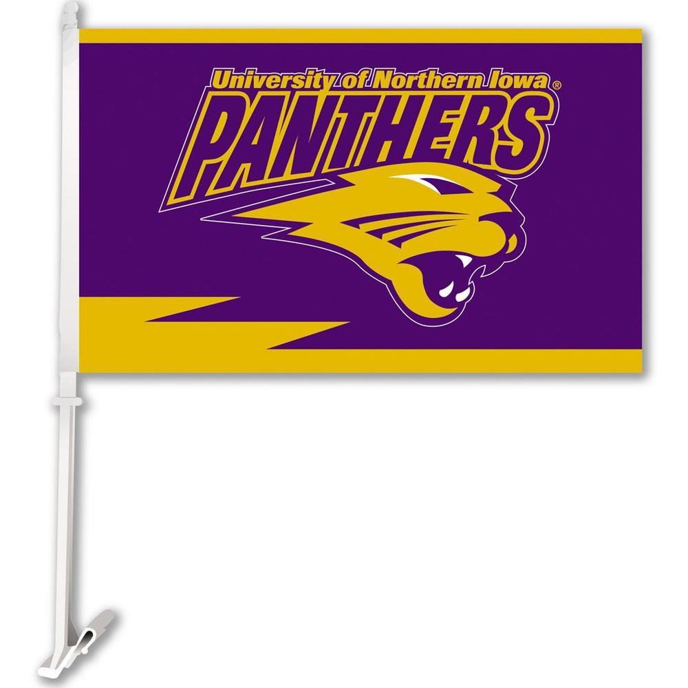 NCAA 11 in. x 18 in. Northern Iowa 2-Sided Car Flag