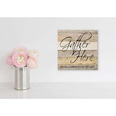 Gather Here Reclaimed Wood Decorative Sign