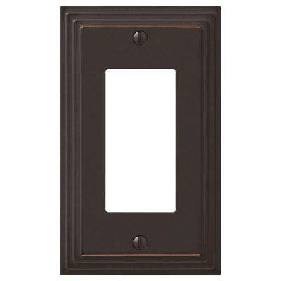 Tiered 1 Decora Wall Plate - Oil-Rubbed Bronze Cast