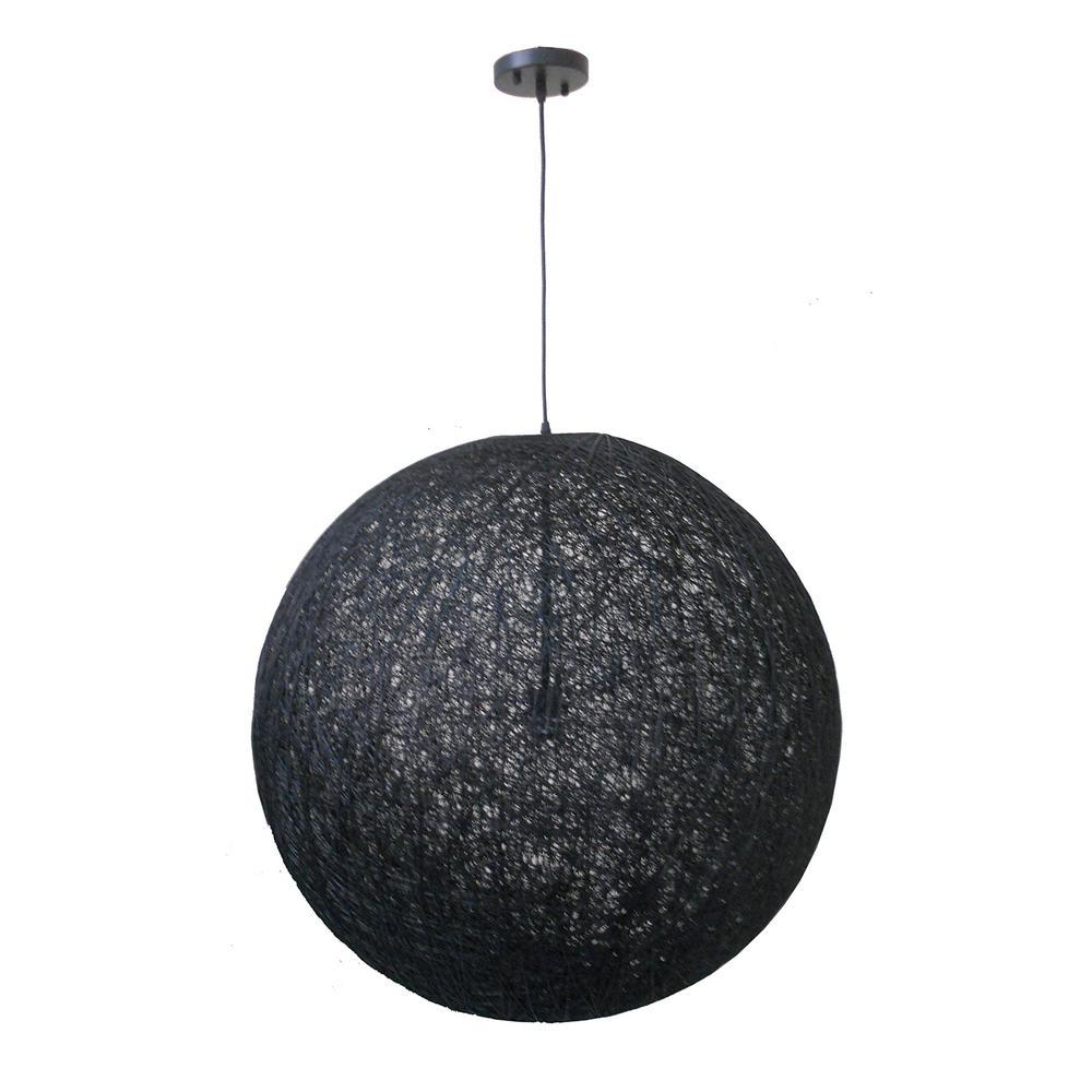 Black led mid century modern pendant lights lighting the 1 light black pendant aloadofball Images