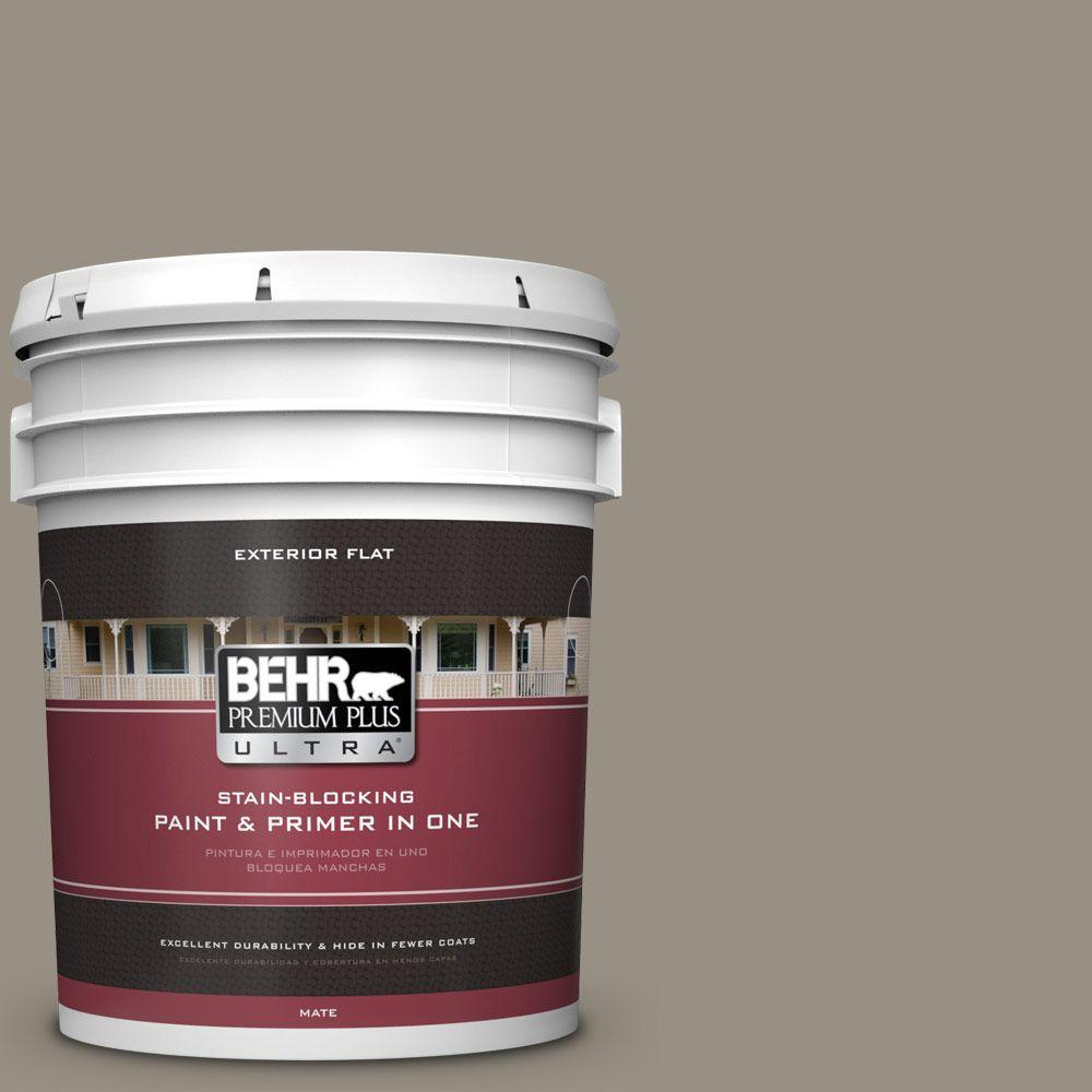 5-gal. #N320-5 Gray Squirrel Flat Exterior Paint