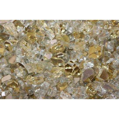 10 lbs. Bag Reflective Fire Pit Fire Glass in Gold