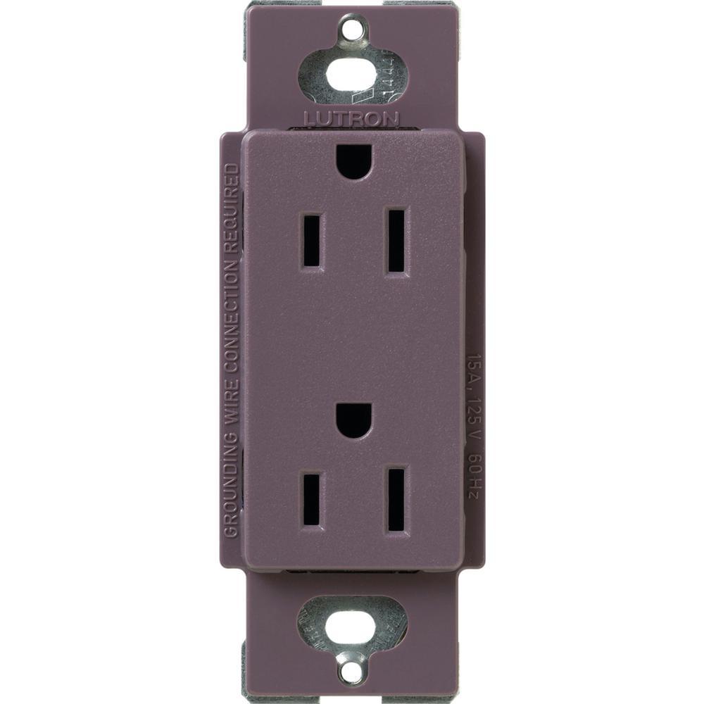 Claro 15 Amp Duplex Outlet, Plum