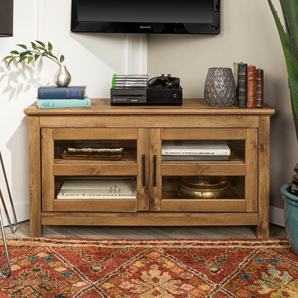 reputable site 978a0 c32a7 Walker Edison Furniture Company 44 in. Wood Corner TV Media ...